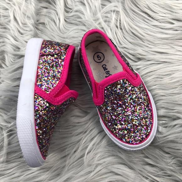 ef3beda70828 Cat & Jack Shoes | Girl Cat Jack Slip On Glitter Sneakers 5 | Poshmark
